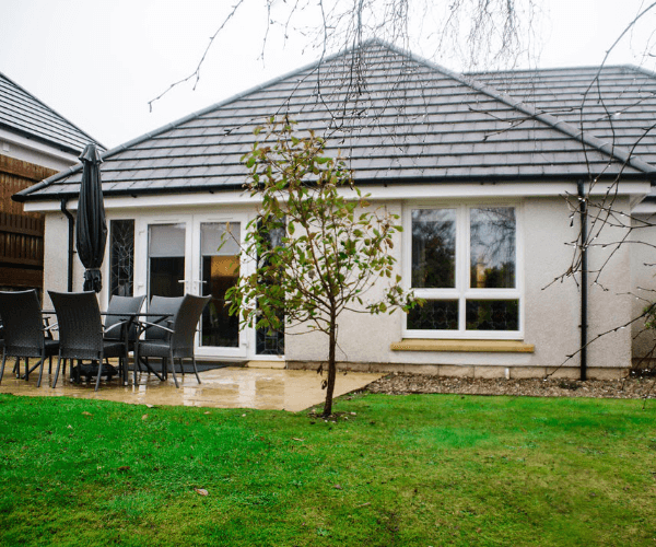 Exterior shot of Calum's Cottage