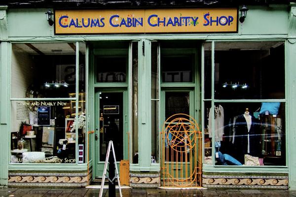 Exterior of Calums Cabin charity shop