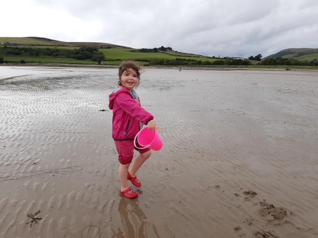 Sophia at beach